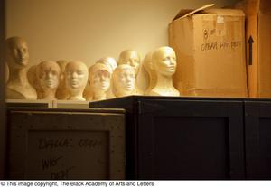 Primary view of object titled '[Styrofoam Wig Head]'.