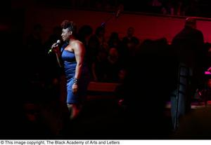 Primary view of object titled '[Ledisi speaking on stage]'.