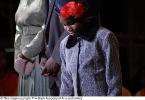 Primary view of object titled '[Young actors perform in Aretha: The Musical]'.