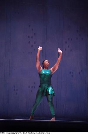 Primary view of object titled '[Dancer in green leotard]'.