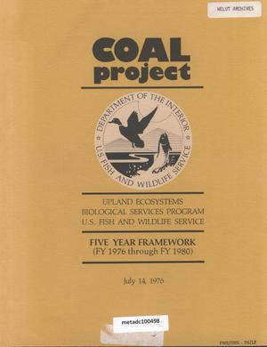 Primary view of object titled 'Coal Project: Five Year Framework (FY 1976 Through FY 1980)'.