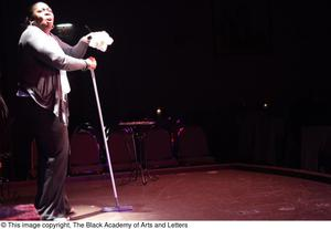Primary view of object titled '[Performer mopping on stage]'.