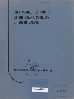 Primary view of object titled 'Duck Production Studies on the Prairie Potholes of South Dakota'.