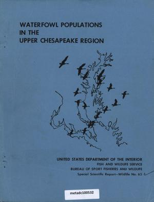 Primary view of object titled 'Waterfowl Populations in the Upper Chesapeake Region'.