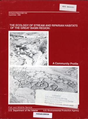 Primary view of object titled 'The Ecology of Stream and Riparian Habitats of the Great Basin Region'.
