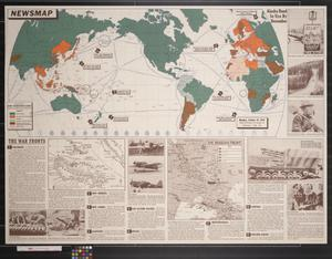 Primary view of object titled 'Newsmap. Monday, October 19, 1942 : week of October 9 to October 16'.