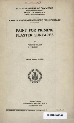 Primary view of object titled 'Paint for Priming Plaster Surfaces'.