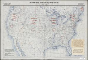 Primary view of object titled 'Standard Time Zones of the United States and adjacent Parts of Canada and Mexico as of October 1, 1935'.