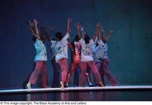 Primary view of object titled '[Thriller dancers on stage]'.