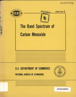 Primary view of object titled 'The Band Spectrum of Carbon Monoxide'.
