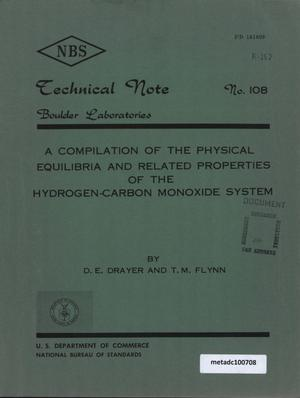 Primary view of object titled 'A Compilation of the Physical Equilibria and Related Properties of the Hydrogen-Carbon Monoxide System'.
