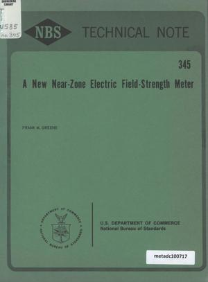 Primary view of object titled 'A New Near-Zone Electric Field-Strength Meter'.