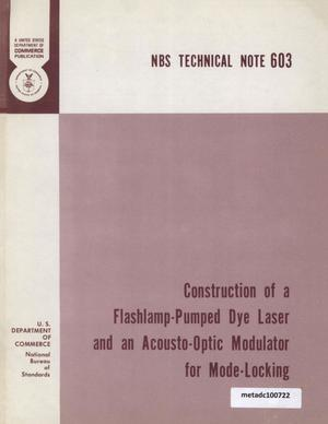 Primary view of object titled 'Construction of a Flashlamp-Pumped Dye Laser and an Acousto-Optik Modulator for Mode-Locking'.