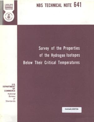 Primary view of object titled 'Survey of the Properties of the Hydrogen Isotopes Below Their Critical Temperatures'.