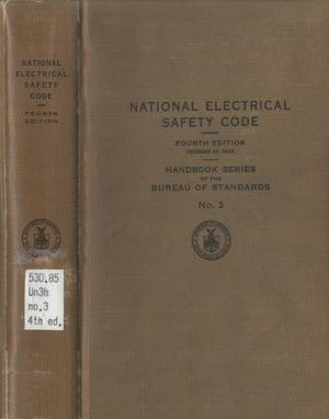 Primary view of object titled 'National Electrical Safety Code, 4th edition'.