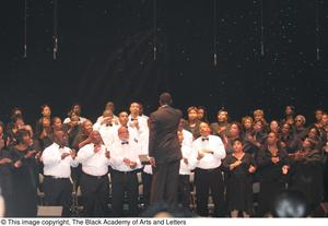 Primary view of object titled '[Conductor Directing Choir]'.