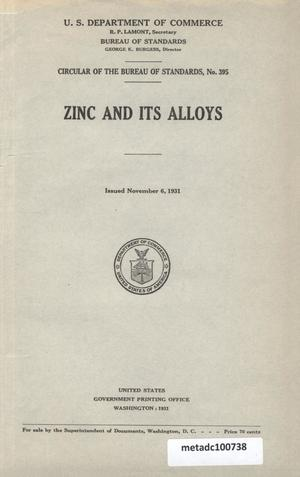 Primary view of object titled 'Zinc and its alloys'.