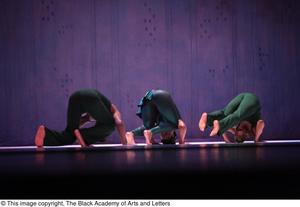 Primary view of object titled '[Dancers in green rolling]'.