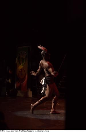 Primary view of object titled '[Dancer on stage]'.