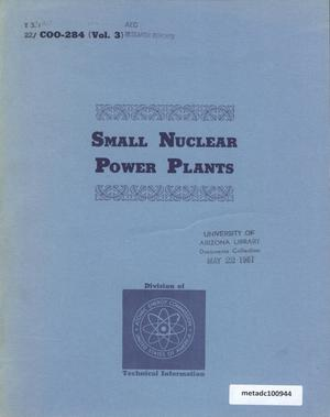 Primary view of object titled 'Small Nuclear Power Plants, Volume 3: A General and Economic Assessment'.