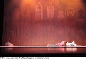 Primary view of object titled '[Dancers laying on stage]'.