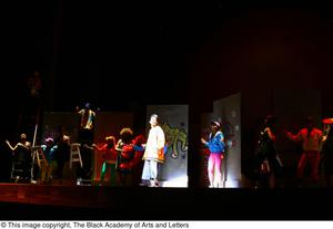 Primary view of object titled '[Dancers dressed in bright clothes]'.
