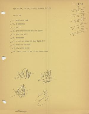 Primary view of object titled 'Music USA playlists, 1976'.