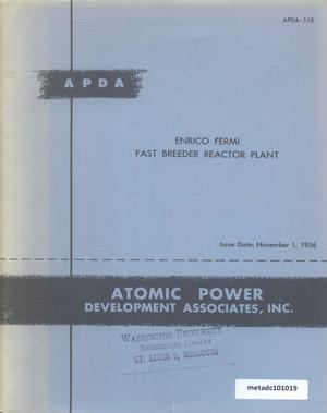 Primary view of object titled 'Enrico Fermi Fast Breeder Reactor Plant'.