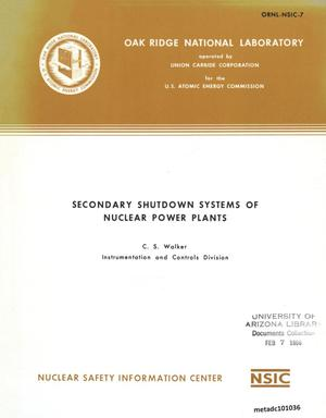 Primary view of object titled 'Secondary Shutdown Systems of Nuclear Power Plants'.