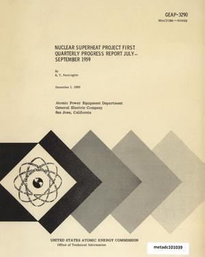 Primary view of object titled 'Nuclear Superheat Quarterly Project Report: First Quarter, July-September 1959'.