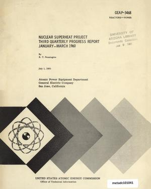 Primary view of object titled 'Nuclear Superheat Quarterly Project Report: Third Quarter, January-March 1960'.