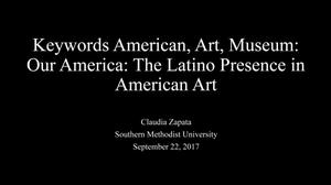 Primary view of object titled 'Keywords American, Art, Museum: Our America: The Latino Presence in American Art'.