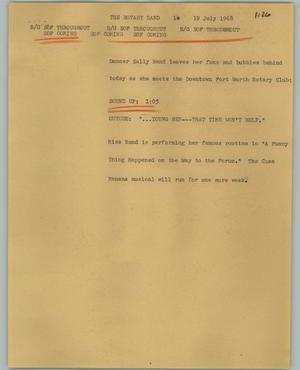 Primary view of object titled '[News Script: The Rotary Rand]'.