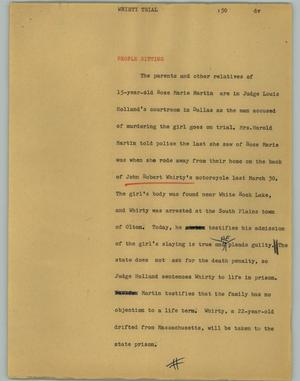 Primary view of object titled '[News Script: People Sitting]'.