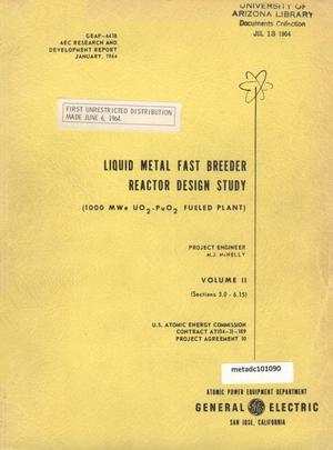 Primary view of object titled 'Liquid Metal Fast Breeder Reactor Design Study: Volume 2'.