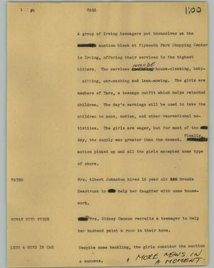 Primary view of object titled '[News Script: Tars]'.