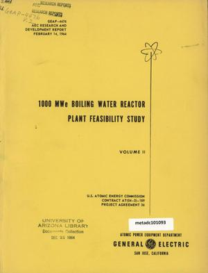 Primary view of object titled '1000 MegaWatt Boiling Water Reactor Plant Feasibility Study: Volume 2'.