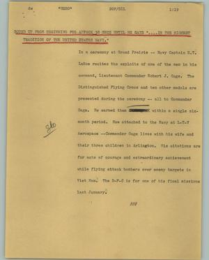 Primary view of object titled '[News Script: Hero]'.