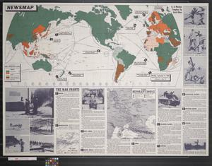 Primary view of object titled 'Newsmap. Monday, September 14, 1942 : week of September 4 to September 11'.