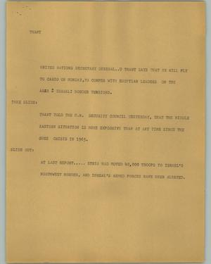 Primary view of object titled '[News Script: Thant]'.
