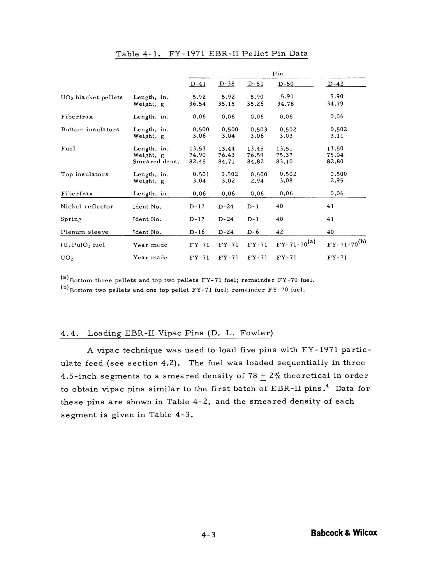 Gel-Addition Process Chemical Studies: Quarterly Progress Report Number 18, November 1970 - January 1971                                                                                                      4-3