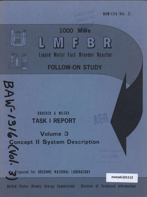 Primary view of object titled '1000-MWe LMFBR Follow-On Study, Task I Report: Volume 3, Concept IV System Description'.