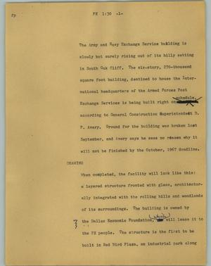 Primary view of object titled '[News Script: PX]'.