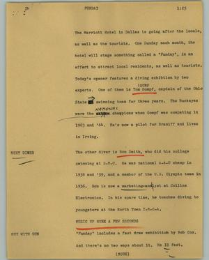 Primary view of object titled '[News Script: Funday]'.
