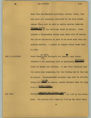 Primary view of [News Script: Art Auction]