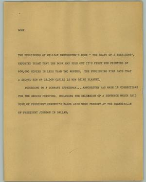 Primary view of object titled '[News Script: Book]'.