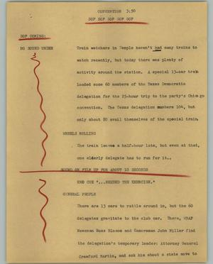 Primary view of object titled '[News Script: Convention]'.
