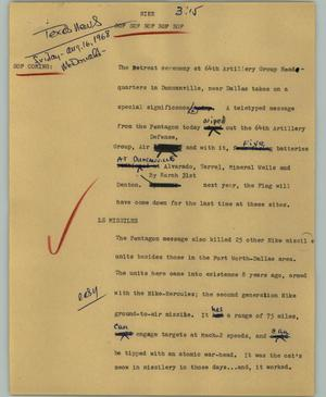 Primary view of object titled '[News Script: Nike]'.