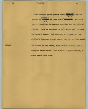 Primary view of object titled '[News Script: Florida]'.