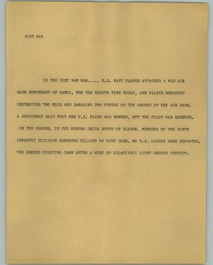 Primary view of object titled '[News Script: Viet Nam]'.
